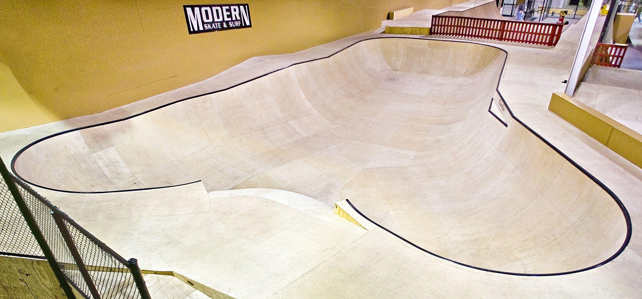 Bowl Modern Skatepark Royal Oak Michigan Usa Royal Oak Michigan Skate Park Royal Oak