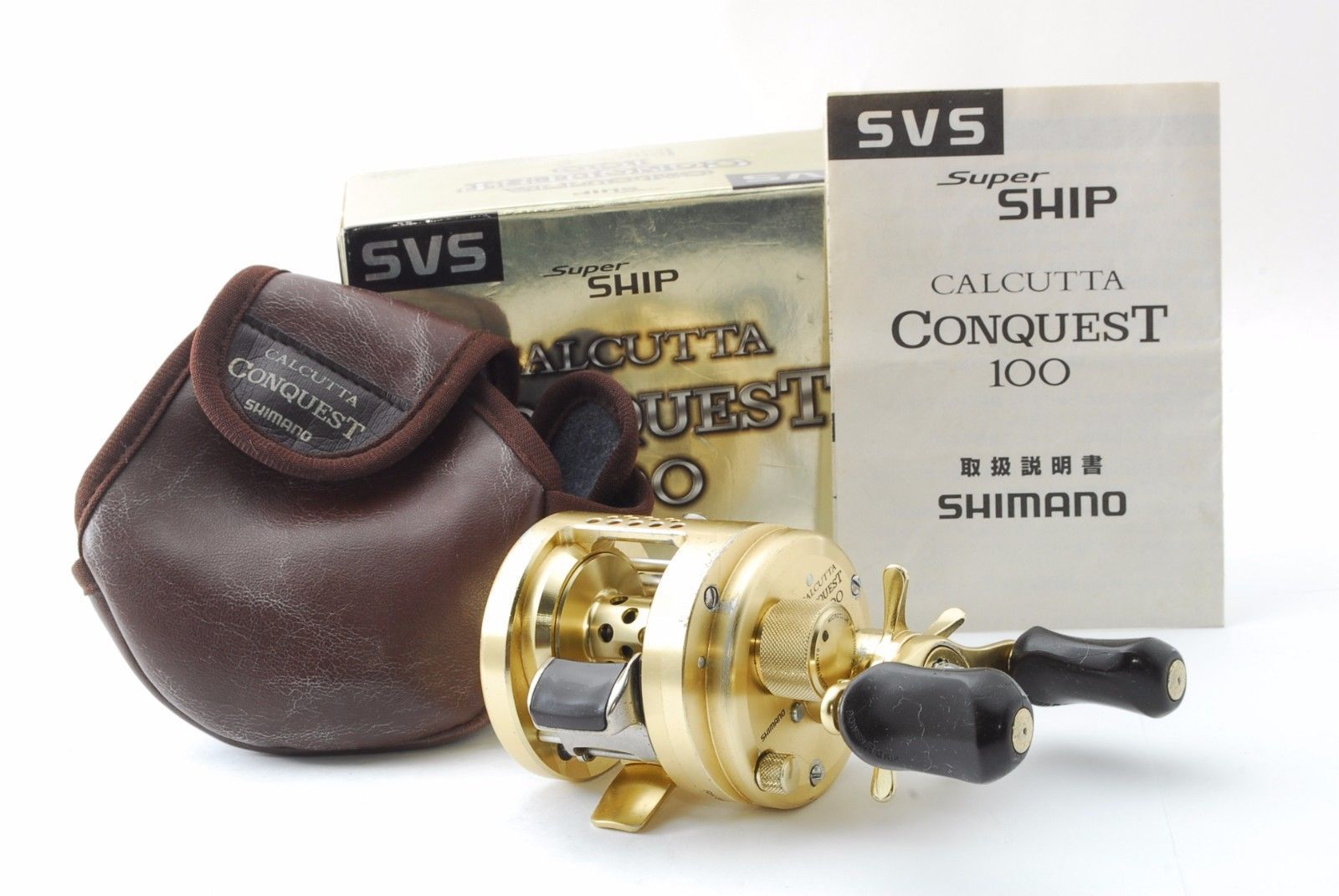 fe0f7f48cc6 SHIMANO CALCUTTA CONQUEST 100 Right handed Baitcasting reel from Japan #C838