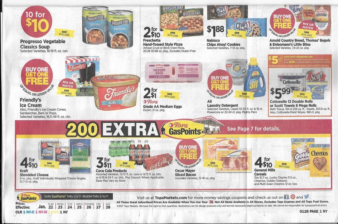 Tops Markets Ad Scan And Coupon Match Ups Smart Q Pon Clips