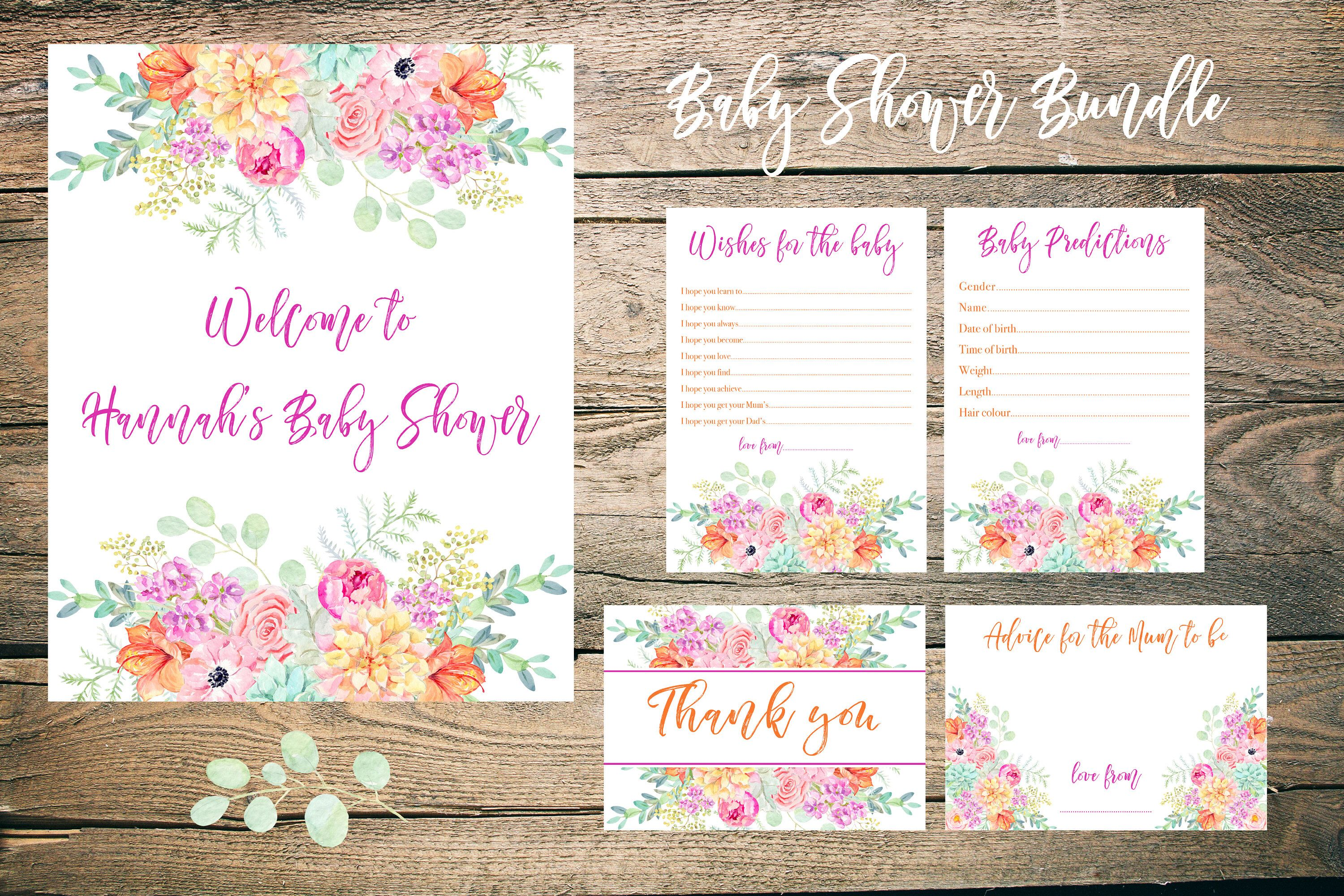 Baby Shower Games Bundle By Elsy And Grace ~ Pink
