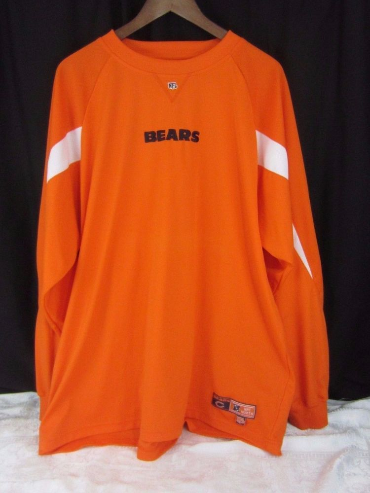 newest 70ed8 4836c NFL Chicago Bears NFC North Long Sleeve Shirt Size XL Orange ...