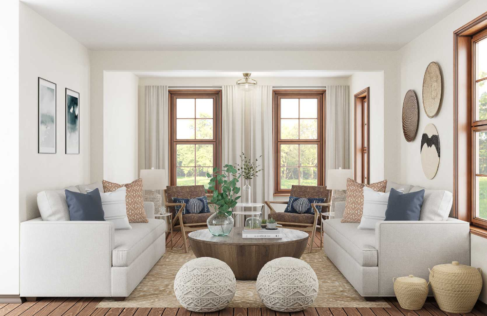 Classic, Eclectic Living Room Design by Havenly Interior Designer Kelsey #havenlylivingroom