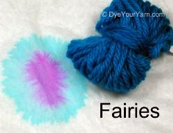 Blue hints for Food Color Dyeing of Wool Yarn