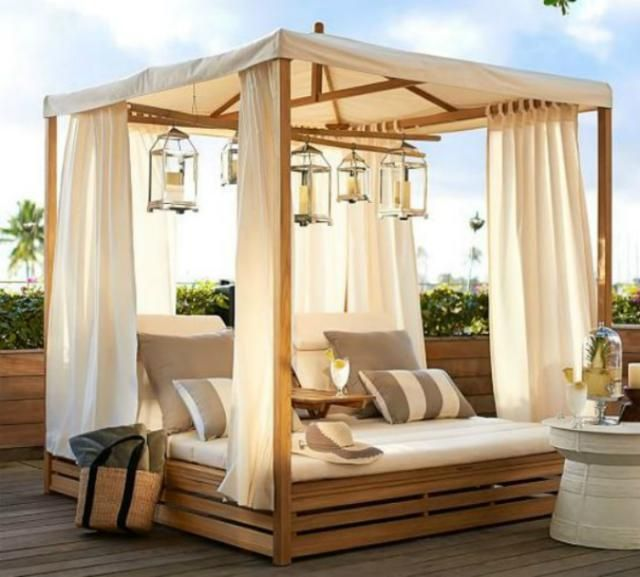 Outside Beds sleep outside under the stars in one of these beds | daybed, teak