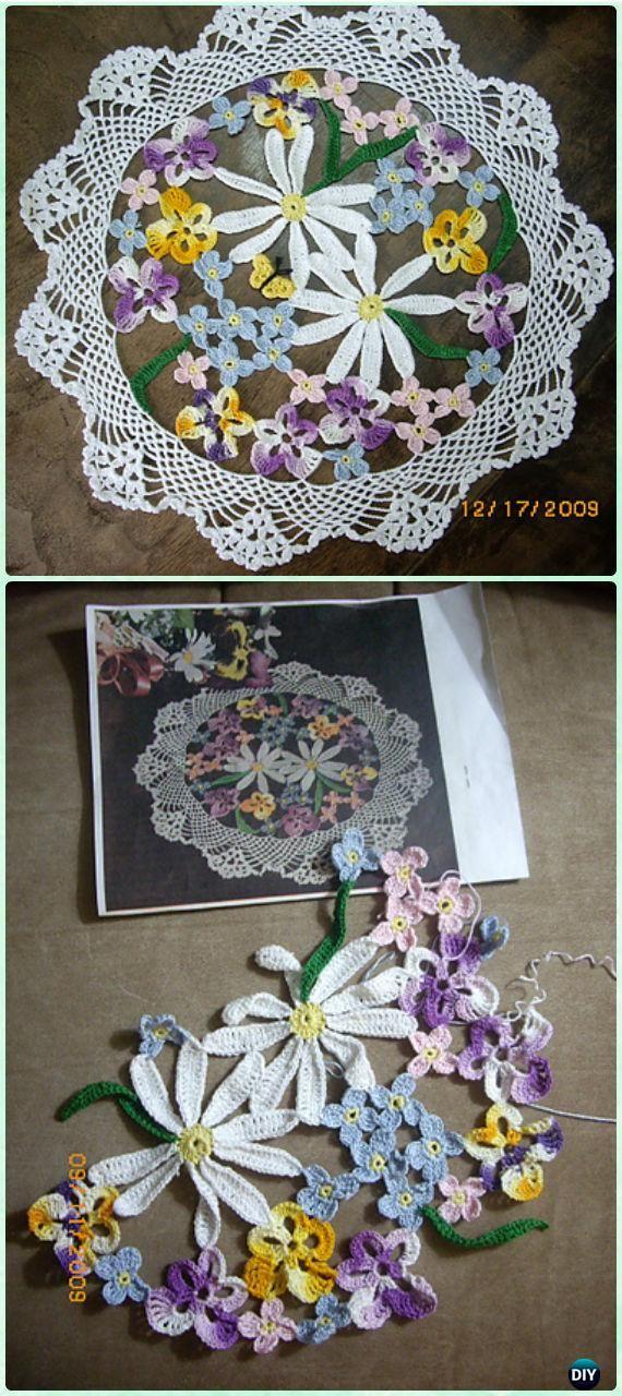Crochet Flower Bouquet Doily Free Pattern - Crochet Doily Free ...