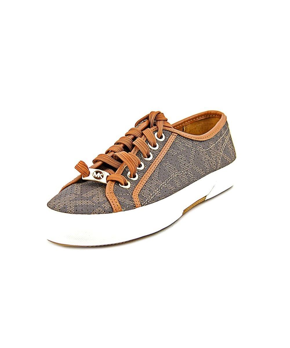 Michael Michael Kors Boerum Sneaker Round Toe Synthetic Brown Sneakers For Women