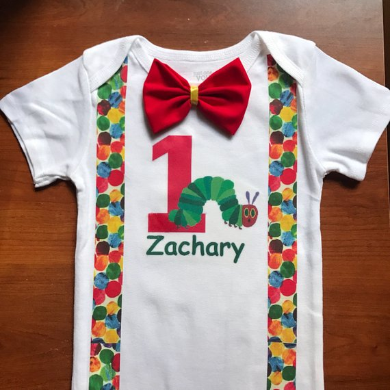 Very Hungry Caterpillar Birthday Shirt I Use Granimal Brand T Shirts From Walmart And Carters Onesies If You Would Like Your Childs Name Included