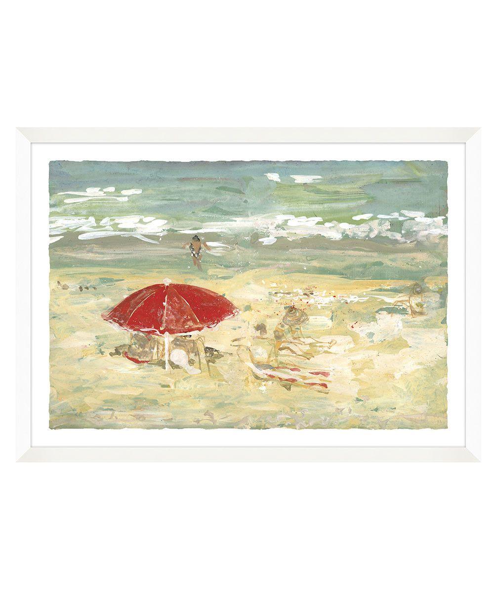 Beach Umbrella, Pari Volia Framed Print | Art | Pinterest