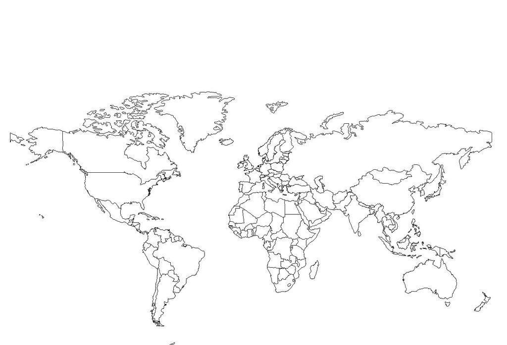carte-du-monde-noir-et-blanc-à-imprimer-2.jpg (1024×697) | Planisphère à imprimer, Carte du ...