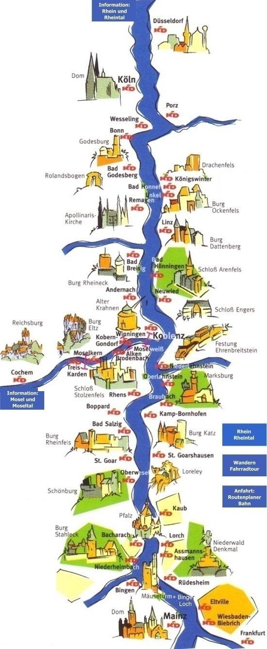 Map Of Rhine See Burg Eltz Bacharach St Goar Rhine River Cruise Germany Castles Germany Vacation