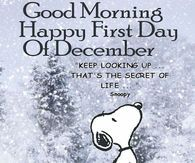 Good Morning Happy First Day Of December Snoopy Quote Artherapy
