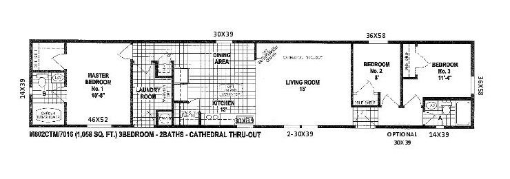 Scotbilt Mobile Home Floor Plans singelwide | Floor Plans for ...