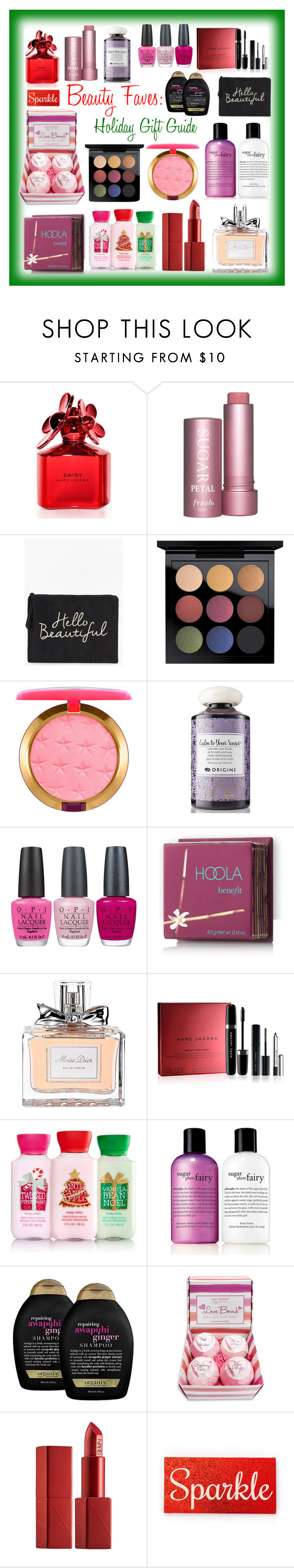 Beauty Faves: Holiday Gift Guide: Featuring  Marc Jacobs, Boohoo, MAC Cosmetics, Origins, OPI, Hoola, Christian Dior, philosophy and Organix » by curekitty on Polyvore.com