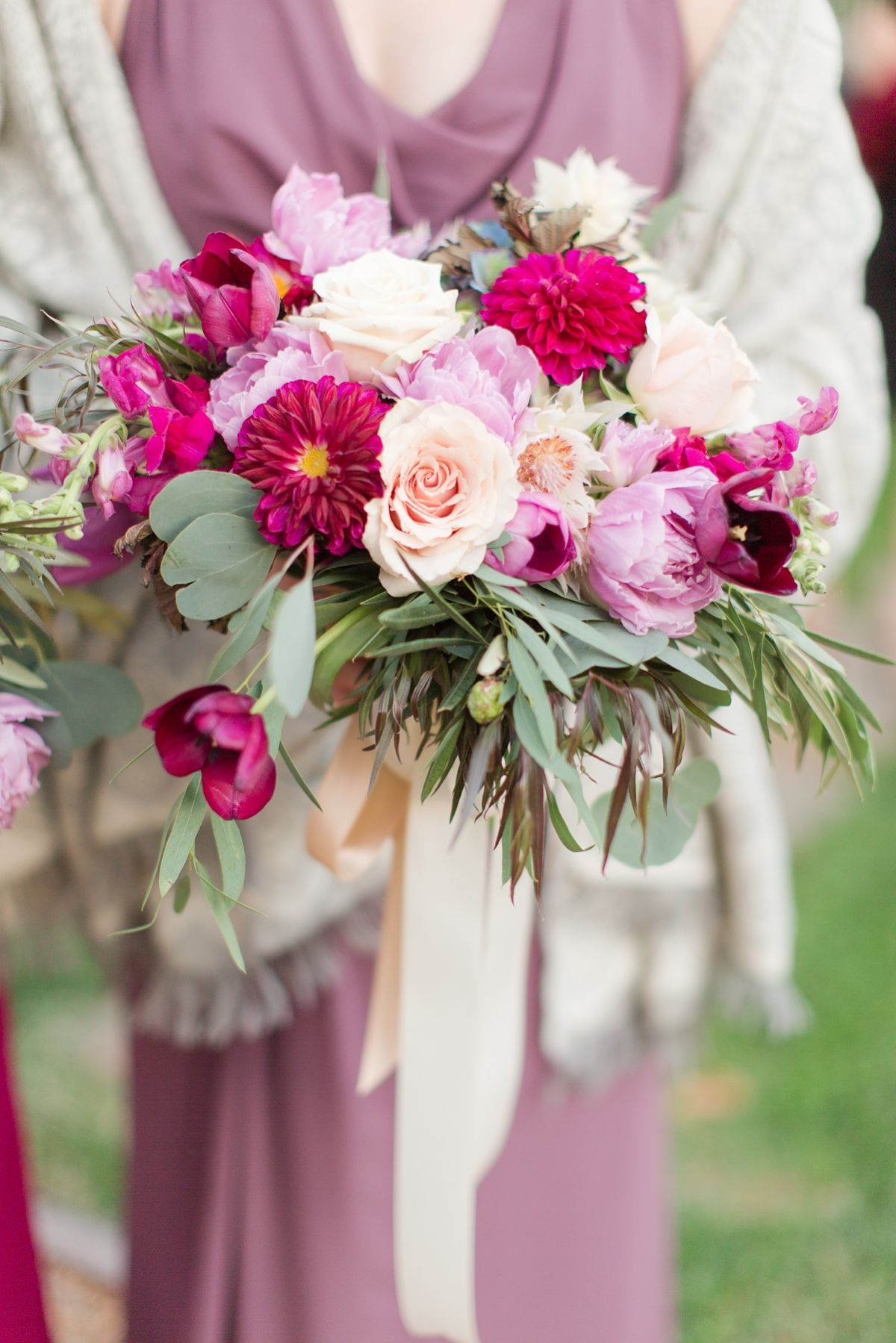 Wedding bouquets not flowers  Wedding At The Inn at Willow Grove in Orange Virginia with accents