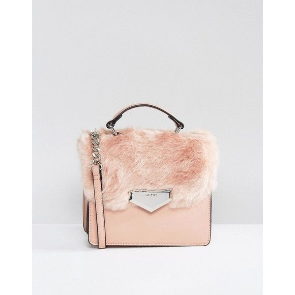 Aldo Moraine Faux Fur Cross Body Bag 1 345 970 Vnd Liked On Polyvore Featuring Bags Handbags Shoulder Pink