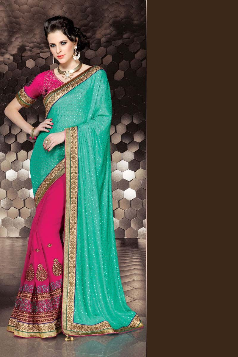 Silk saree lehenga green crepe lehenga saree  lehnega saree on variation  pinterest