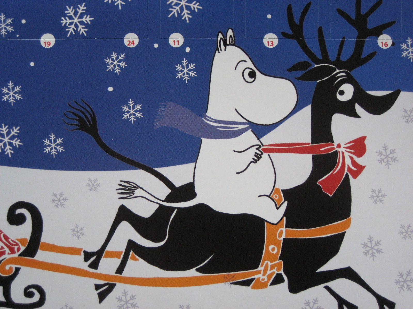 открытка волшебная зима в муми-доле