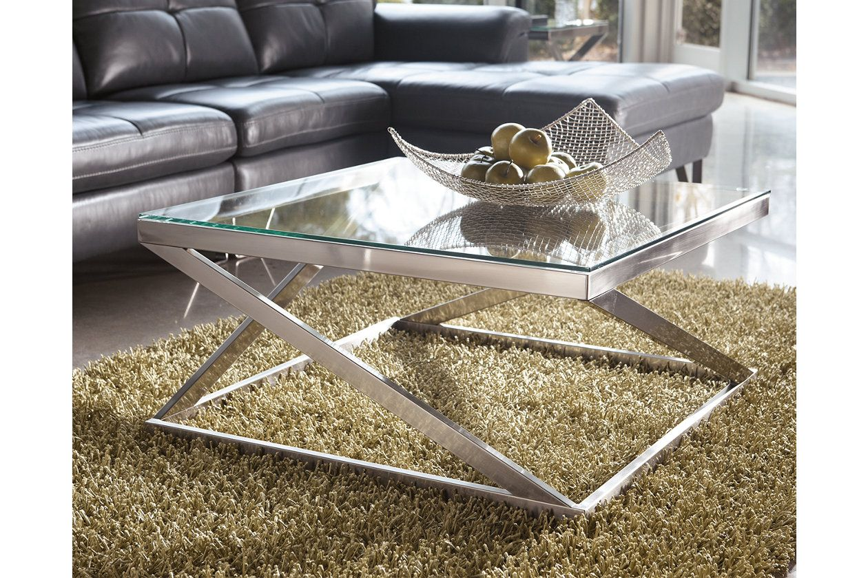 Coylin Coffee Table With Images Square Glass Coffee Table