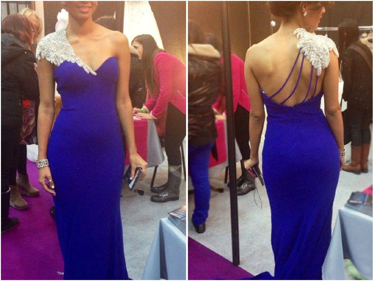 Buy Simple-dress Gorgeous Beading A-line Mermaid One-shoulder Prom Dresses/Evening Dresses/Party Dresses SAPD-7385 Mermaid Prom Dresses under $184.99 only in SimpleDress.