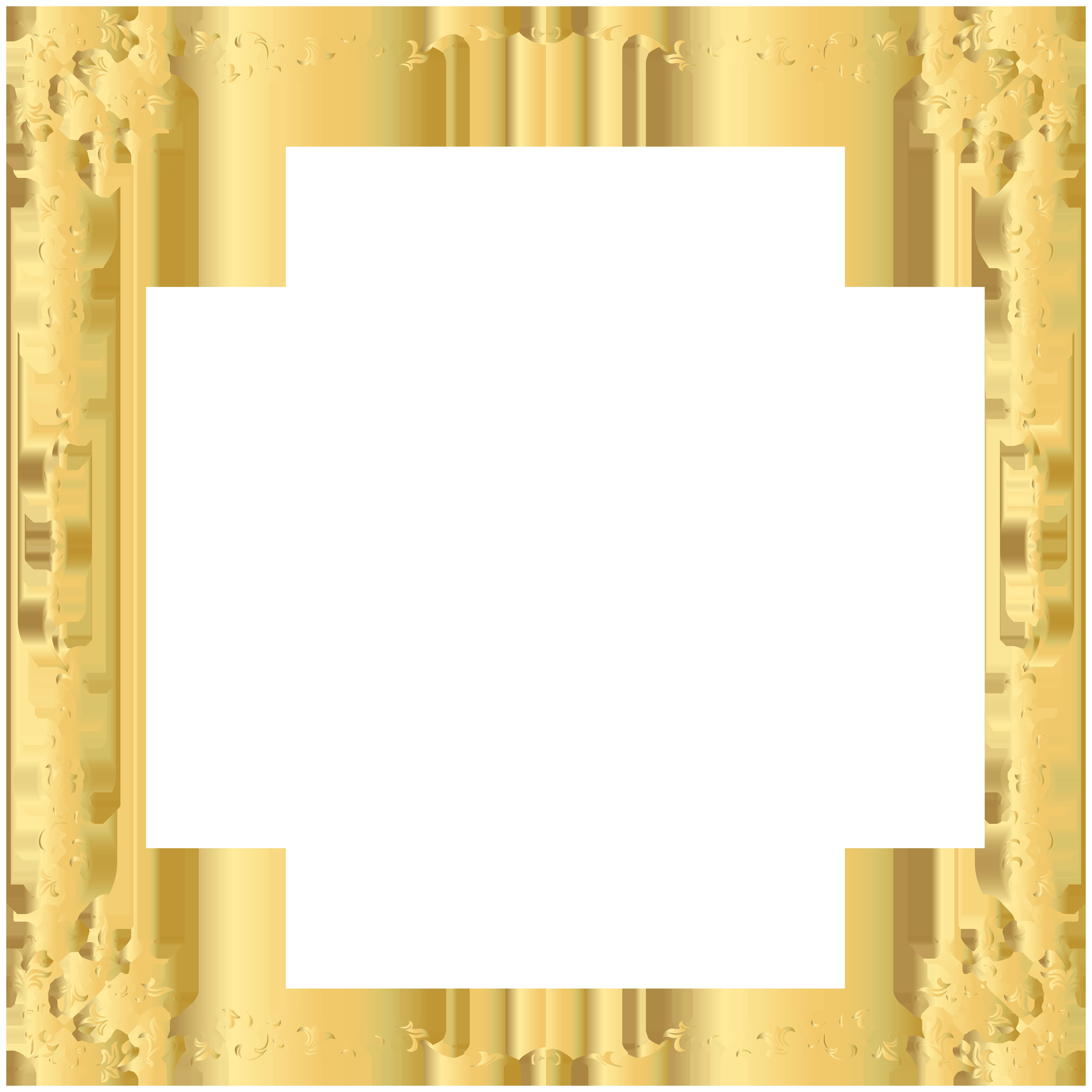 Decorative Transparent Border PNG Image กรอบ