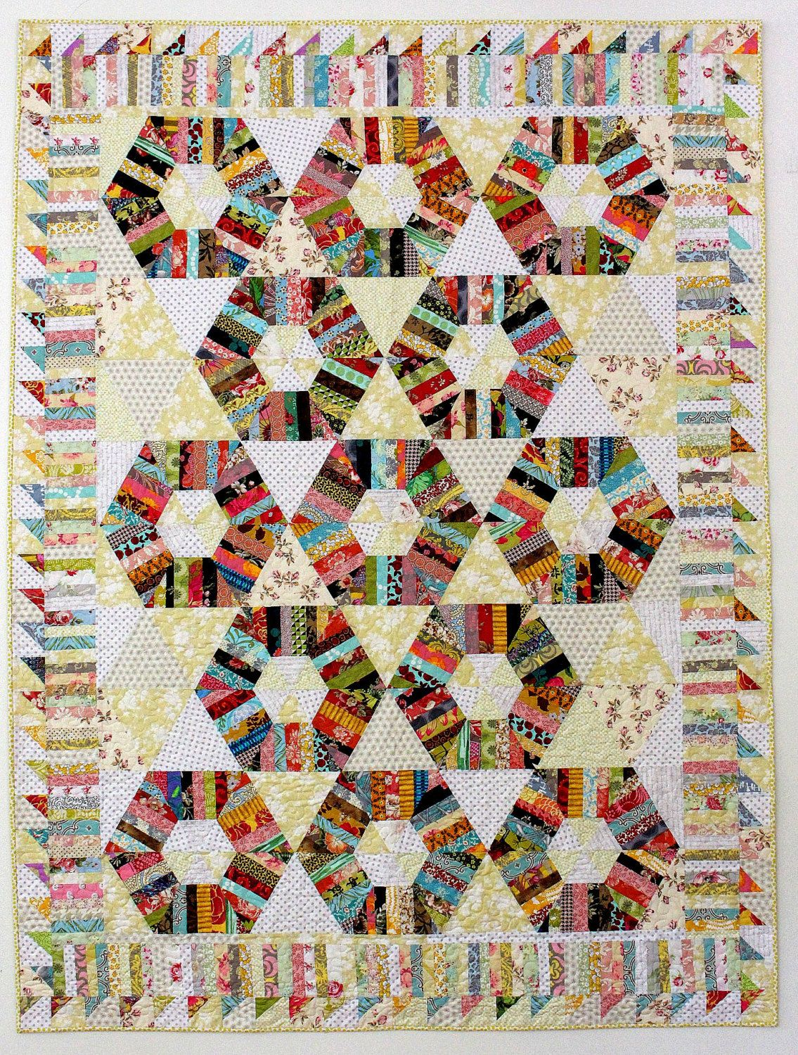 Honeycomb Quilt Pattern String quilt pattern by KarenGriskaQuilts ... : string quilts patterns - Adamdwight.com