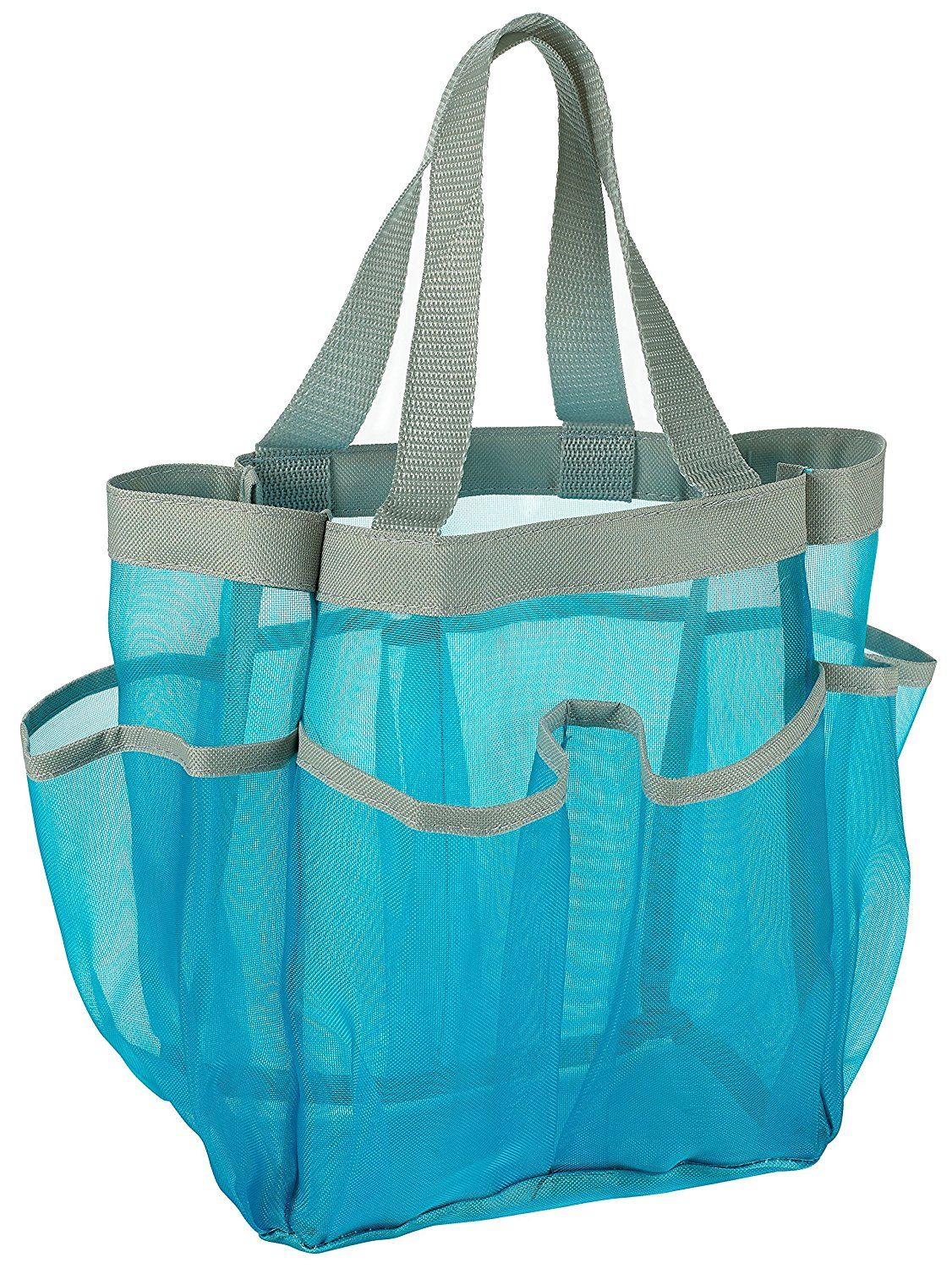 Amazon.com: 7 Pocket Shower Caddy Tote, Blue - Keep your shower ...