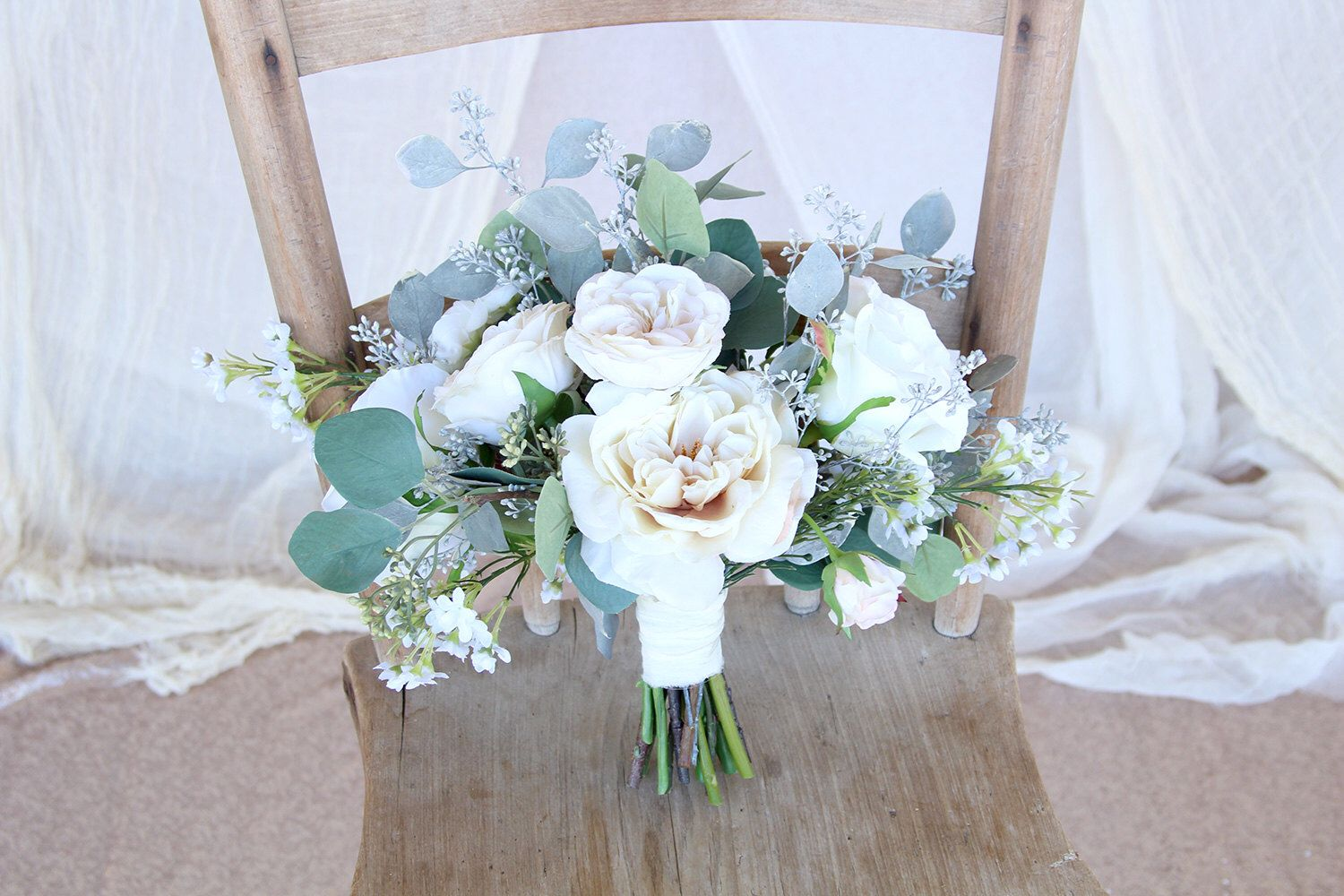 Loose wedding bouquet wispy wild silk flowers wedding bouquet loose wedding bouquet wispy wild silk flowers wedding bouquet white and cream vintage style sg 1008 mightylinksfo Gallery
