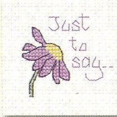 Just to Say: Cross stitch (Mouseloft, 014-545stl)