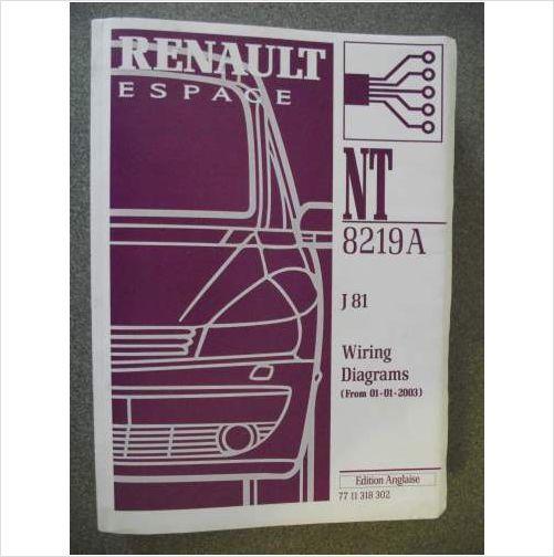 Renault Espace J81 Wiring Diagrams Manual 2003 Nt8219a