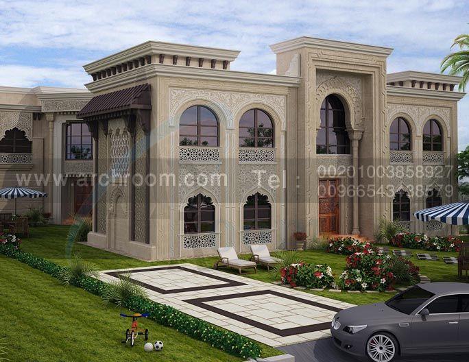 Pin by arch room on exterior villas pinterest villas for Classic villa exterior design