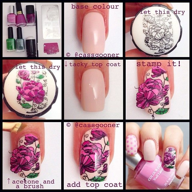 The Easiest Colored Stamping Decals Use Acrylic Paint Elegant Nail Art Stamping Nail Art Nail Art