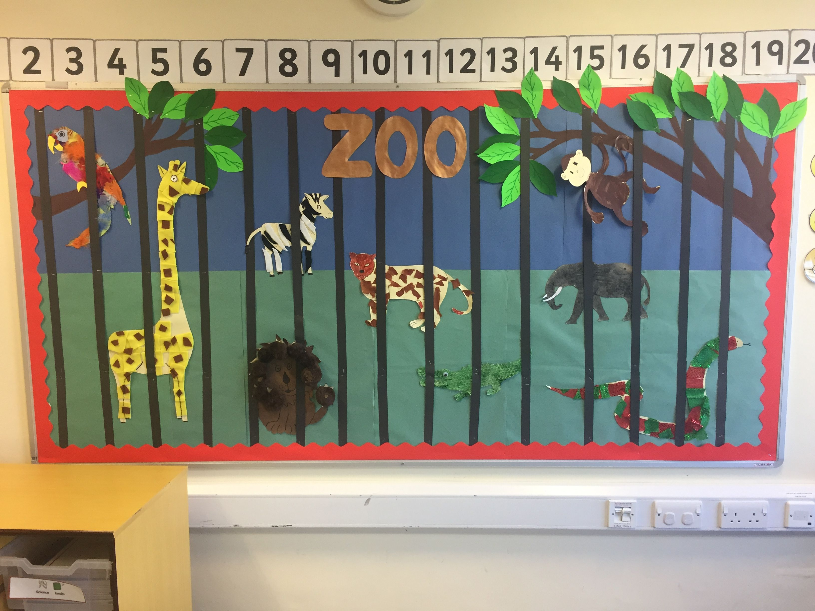 Zoo Themed Classroom Display