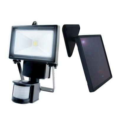 Nature Power Black Outdoor Solar Motion Sensing Security Light
