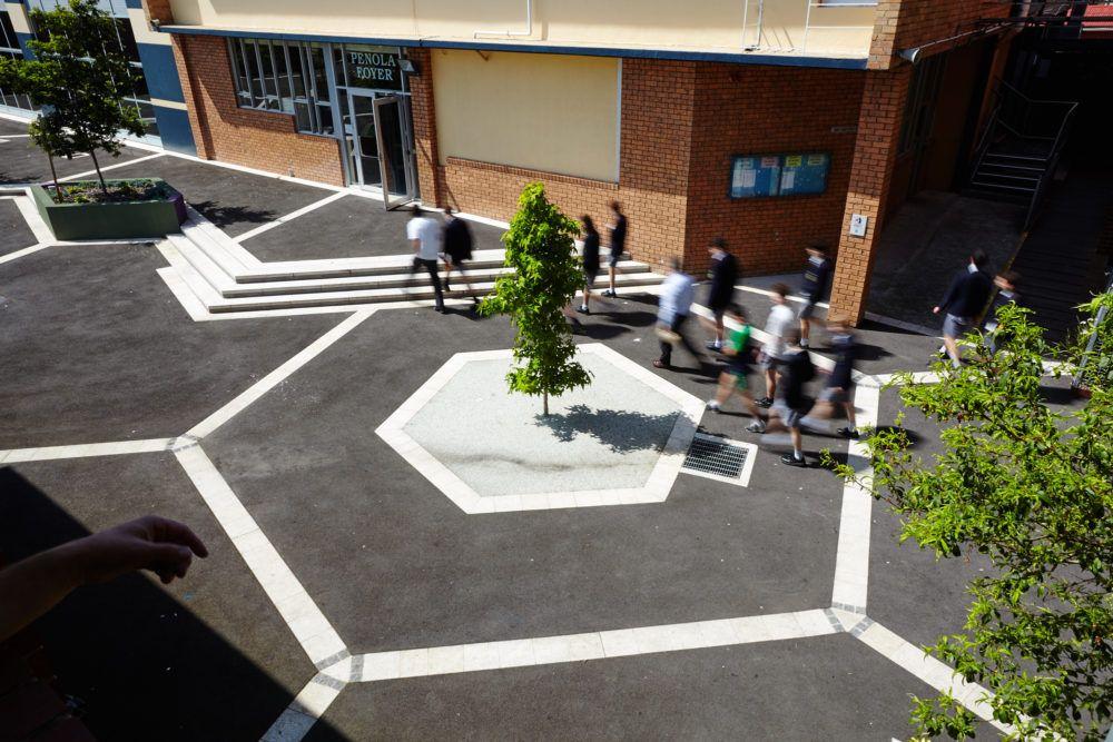 Landscape design for Parade College's main square ...