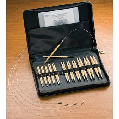 Takumi Bamboo Interchangeable Circular Knitting Needle Set (114620) | Create and Craft