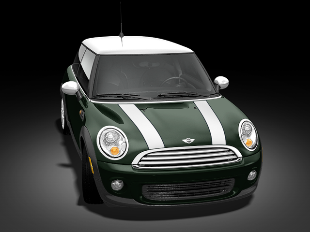 british racing green with white stripes