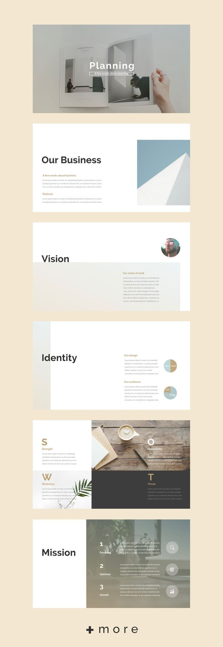 business planning planner powerpoint presentation template simple