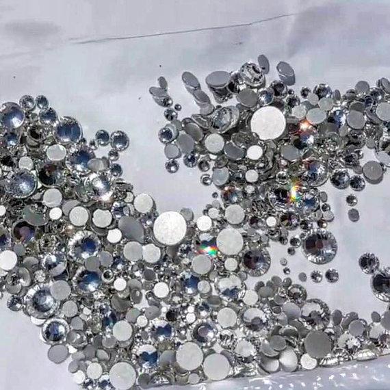 c31a70066cc9 SWAROVSKI Crystals gems stones rhinestone non hot fix flat back CLEAR 1000  x piece