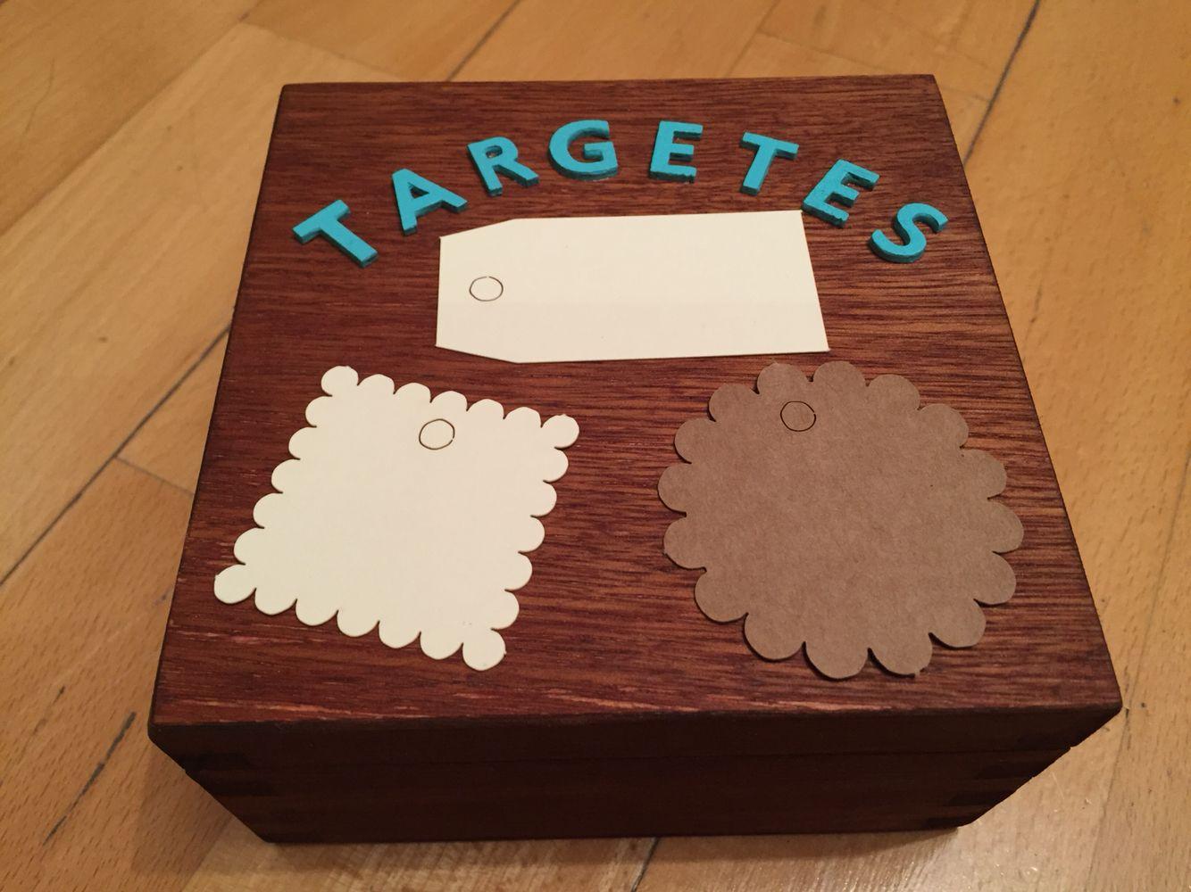 Caja te ida con tinte de madera color nogal letras - Pintura para madera ...