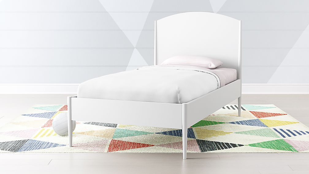 Hampshire White Arched Bed Crate And Barrel Bed Green