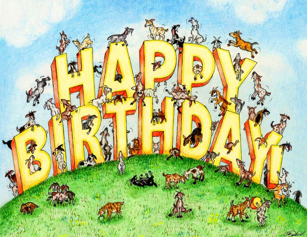 happy birthday goat – Goat Birthday Card