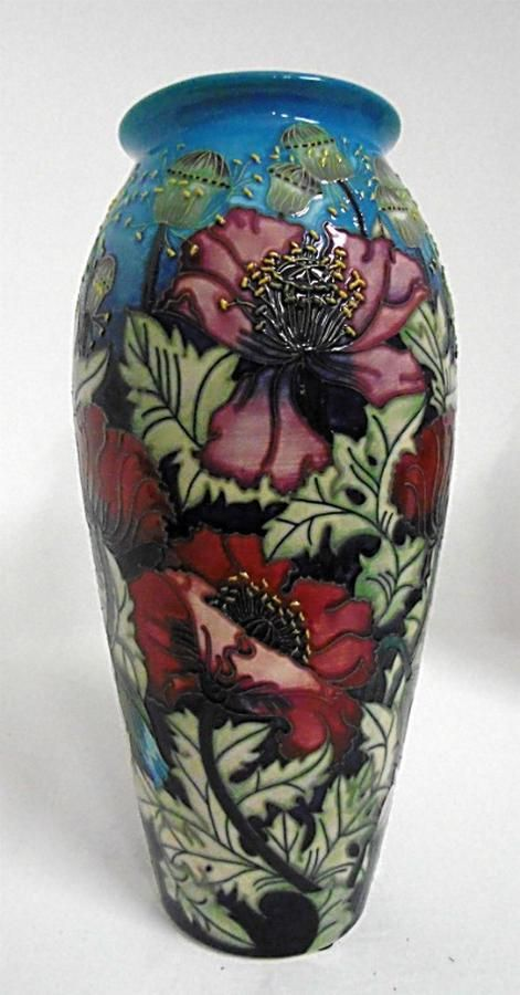 Moorcroft Vase Scarlet Cloud Designed By Rachel Bishop Vases