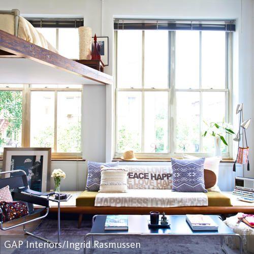 wohnzimmer im loft-stil | im, ein and auf, Wohnideen design