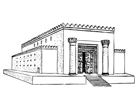 This is a picture of Sly solomon's temple coloring page