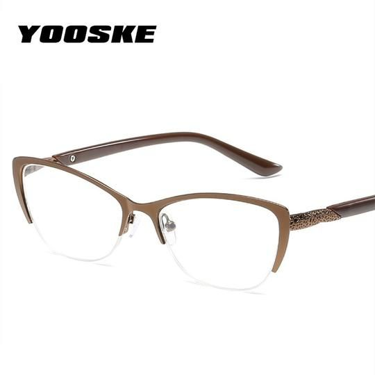 YOOSKE Retro Cateyes Reading Glasses Women Anti-fatigue