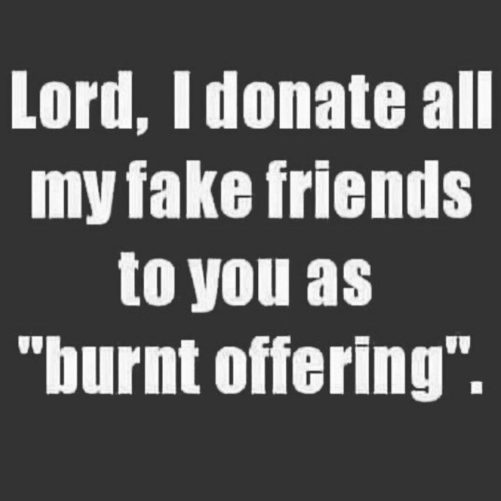Lord I Donate All My Fake Friends To You As Burnt Offering Unique Quotes Quotes About Everything Funny Quotes