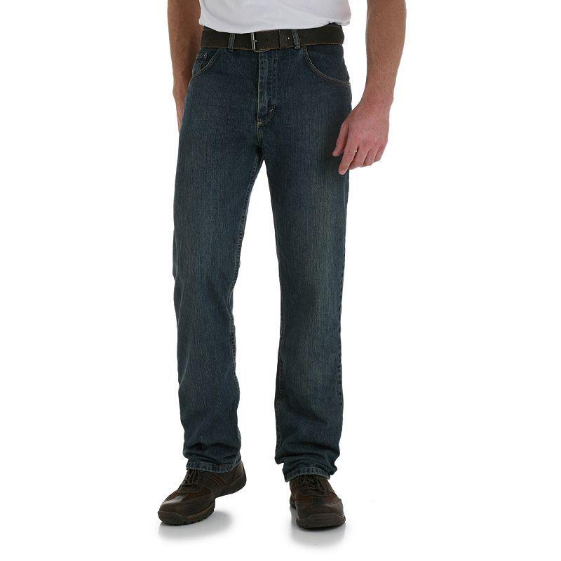 Mens wrangler relaxedfit jeans size 34x30 blue