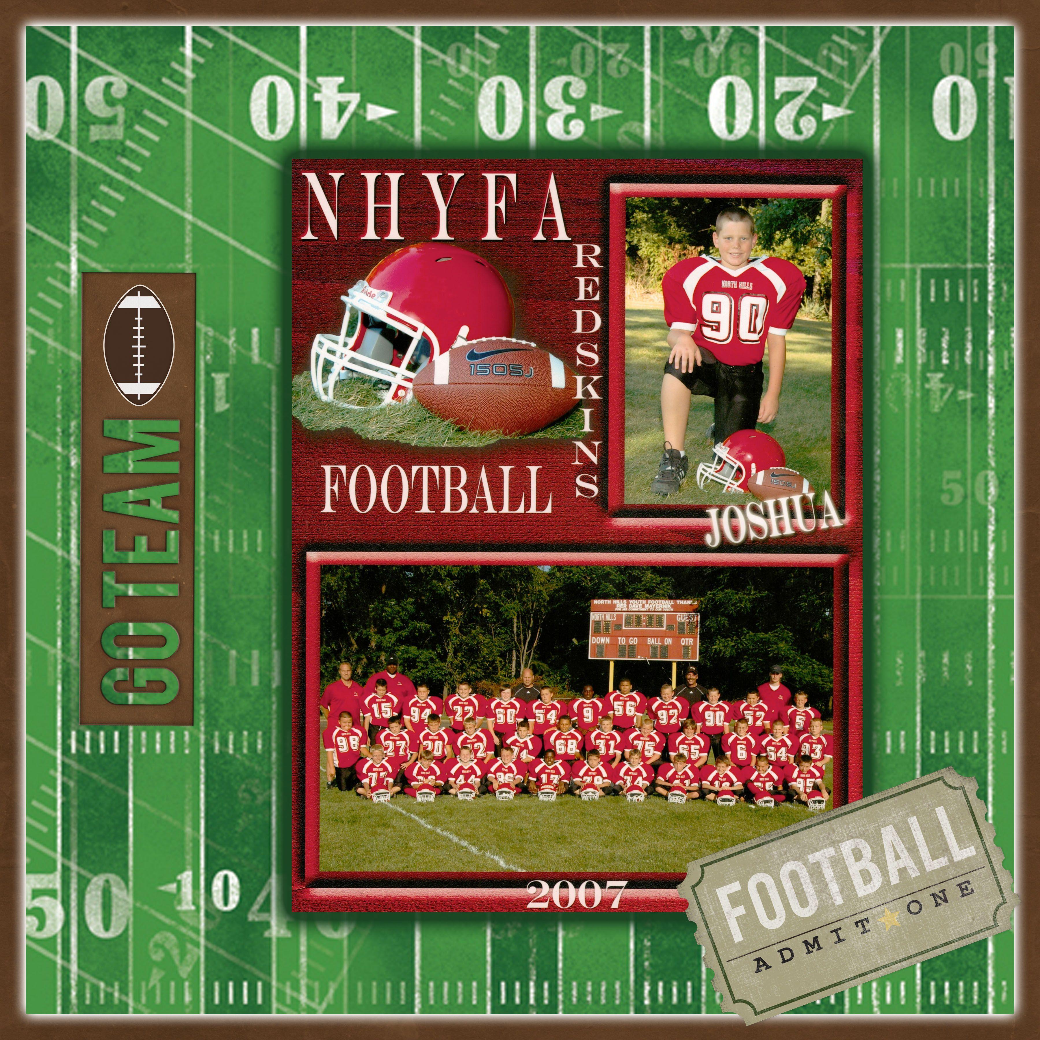 football scrapbook com sports layouts scrapbook scrapbook