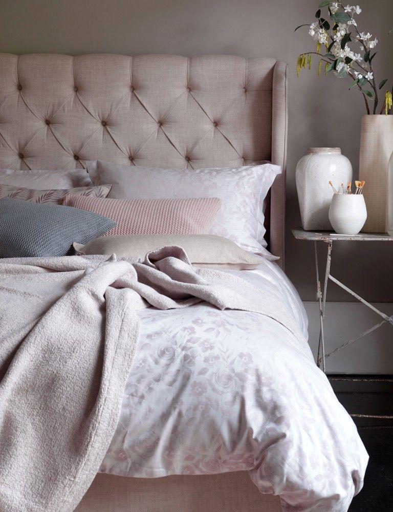 Wild Rose, Dusky Pink Cotton Bedding Set duskypinkbedding