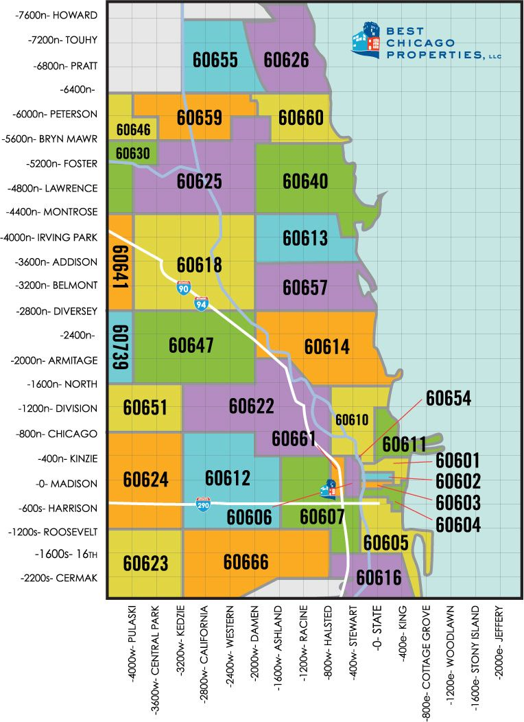 Chicago Area Zip Code Map Chicago Real Estate For Sale By Zip Code | Moving To Chicago